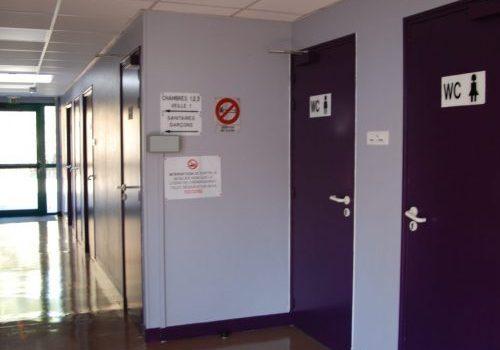 Wc toilettes hébergement collectif Les Roches