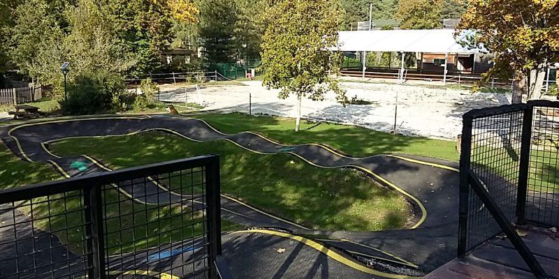 parc à circuit bosse , à 3 niveaux pumptrack 45