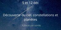 découverte ciel constellations et planètes